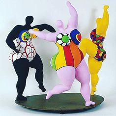 Les Trois Gracês #nikydesaintphalle #inspiration #art #modernsculpture #lovejob #fashiondesigner #instadaily #dance