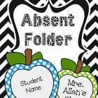 This set include 3 different cover options for student absent folders. The apples on the front cover are left blank so you can fill in (by hand) an...
