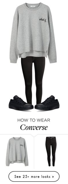 """What if..."" by sydthekyd01 on Polyvore featuring MANGO and Converse"