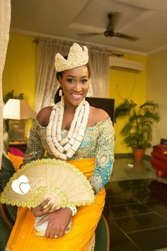 You & I Forever: Chinda & Ugo's Colourful Traditional Wedding Photos - Wedding Digest Naija African Wedding Attire, African Attire, African Wear, African Fashion, Nigerian Fashion, Ghanaian Fashion, Nigerian Traditional Wedding, Traditional Wedding Attire, Traditional Outfits