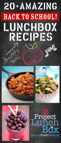 20+ AMAZING Back to School LUNCHBOX Recipes