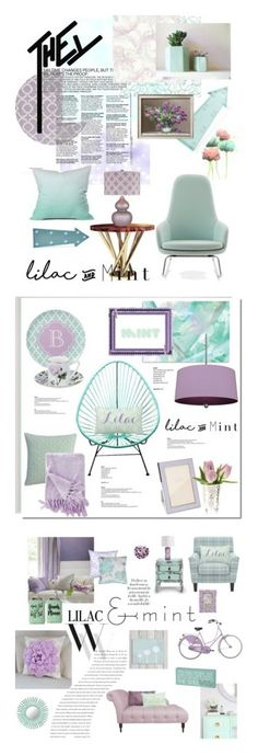"""""""Winners for Color Challenge: Lilac & Mint"""" by polyvore ❤ liked on Polyvore featuring interior, interiors, interior design, home, home decor, interior decorating, Malabar, Normann Copenhagen, New Look and DENY Designs"""