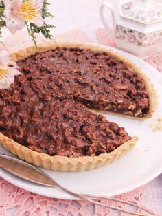 Receita de Tarte de Chocolate e Noz - Clara de Sousa Chocolate, Cheesecake, Pie, Vegetables, Desserts, Tomato Gravy, Puddings, Yogurt, Sauces