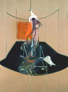 FRANCIS BACON Carcass of Meat and Bird of Prey, 1980 Medium Oil and pastel on canvas Dimensions 198 x 147.5 cm