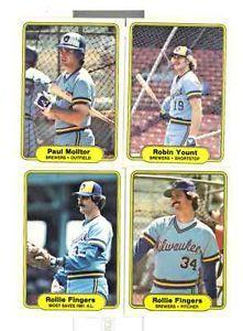 1982 Fleer Milwaukee Brewers Team Set Paul Molitor Robin Yount Rollie Fingers | eBay