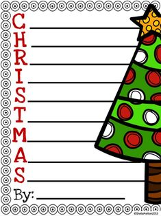 christmas acrostic poem freebie includes color and blackwhite copies - Christmas Writing Pages