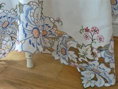 Fine Detailed Embroidered Vintage Tablecloth by fitzroyandcole
