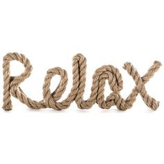 """Get into island mode with this Relax Word with Jute Rope Accent! This brownMDF wall plaque features a fun script style, topped off with a looped and curved jute rope.    Simple, calming and beautiful, this gorgeous plaque is the perfect accent to beach or nautical-themed decor!    Dimensions:      Length: 1""""    Width: 13 1/2""""    Height: 4 3/4""""      Hanging Hardware:      2 - Triangle Hangers (11 1/2"""" from Center to Center)"""