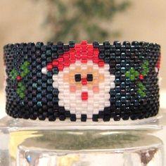 Santa Claus Tea Light Cover / Napkin Ring | Bead-Patterns