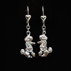Sterling Silver Poodle Earrings   25% off through May 10th.  Apply Coupon MOTHERSDAYOFF25