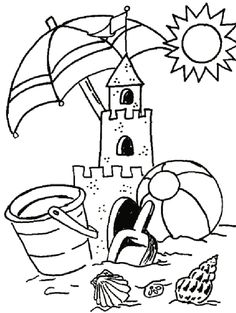 summer coloring pictures to print