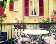 Italy Photo - Lilac spiral chairs - vintage chic home decor Fine Art Travel Photography - Italy . dining . eating