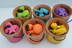 Bright Rainbow Sorting Pieces and Buckets by HouseMountainNatural Montessori Color, Montessori Baby, Buckets, Sorting, Rainbow, Bright, Handmade Gifts, Unique, Diy