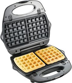 T-fal 1500637135 EZ Clean Easy to Clean Nonstick Sandwich and Waffle Maker with Removable Dishwasher Safe Plates, Silver Waffle Maker Reviews, Best Waffle Maker, Belgian Waffle Maker, Belgian Waffles, Pizzelle Maker, Pizzelle Cookies, Eggo Waffles, Crispy Waffle, Tips