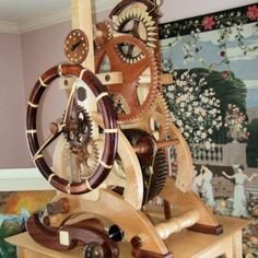 Wood Wheel Clock, segmented and arches..Awesome