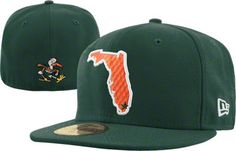 love this one! it is the state of Miami after all    Miami Hurricanes Dark Green New Era 59FIFTY FLA Fitted Hat