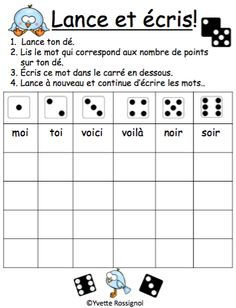 """Jeux de Mots (Le son """"oi"""") Ateliers, No Prep, French Phonics, French immersion) French Teaching Resources, Teaching French, French Teacher, Teaching Spanish, Kindergarten Language Arts, Classroom Language, Preschool Learning Activities, Inquiry Based Learning, Educational Activities"""