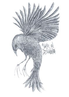 * Vete al Diablo, Rooster, Illustrations, Homemade, Animals, Art, Devil, Craft Art, Animaux, Illustration
