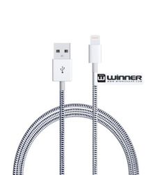 iPhone USB Lightning Cable by WinnerGear 3-foot Long Cable - Braided Cable for Extra Strength and Durability