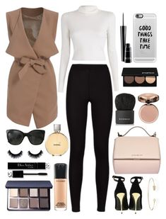 """Neutral"" by xxtraceyxx on Polyvore featuring A.L.C., mizuki, Givenchy, MAC Cosmetics, Chanel, Smashbox, Bobbi Brown Cosmetics, Charlotte Tilbury, Balmain and Casetify"