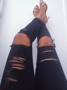 need a pair of black ripped jeans this season