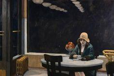 Giant Art Print: Automat by Edward Hopper : 72x48in