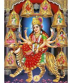 Nava Durga - Hindu Posters (Reprint on Paper - Unframed) Durga Images, Lord Krishna Images, Shri Ganesh, Lord Ganesha, Lord Shiva, Happy Navratri Images, Durga Ji, Ganesh Photo, Ganesh Chaturthi Images