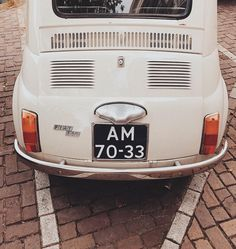 wanting a little off white fiat pretty bad. and all the other tiny vintage cars too. #amsterdam