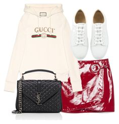 """Untitled #3874"" by theeuropeancloset on Polyvore featuring Gucci and Yves Saint Laurent"