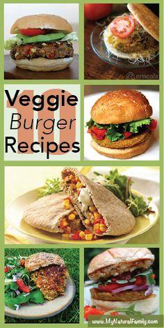 Raise Your Hand if You're Looking for a Veg Burger Recipe - MyNaturalFamily.com #vegan #burger #recipe