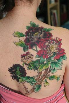 Flower Tattoo on Back Body...!