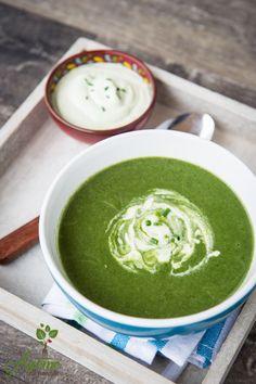 Supa crema de spanac si broccoli Good Food, Yummy Food, Raw Vegan, Palak Paneer, Broccoli, Dips, Vegetarian Recipes, Deserts, Food And Drink
