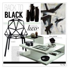 """Black"" by mcheffer ❤ liked on Polyvore"