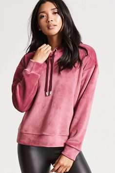 Product Name:Washed Velvet Hoodie, Category:top_blouses, Price:29.9