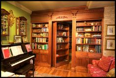 awesome bookcase with hidden door