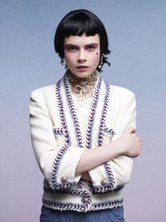 Chanel Resort Collection 2012  White bouclé jacket