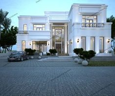 Call us at 02 4444348 or 0509090070 for more inquiries Classic House Exterior, Classic House Design, Dream House Exterior, Dream Home Design, Modern House Design, Villa Design, Modern Mansion, Facade House, House Goals