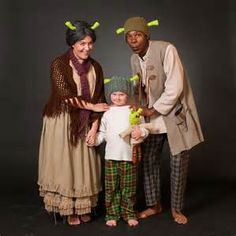 Great ideas for Mama and Papa Ogre - I want them to have green knit hats and green makeup, though