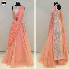 Ethnicity meets modern sensibilities for special occasions with Gown with pre stitched dupatta style. For price or detail do whatsApp Indian Wedding Gowns, Indian Gowns, Indian Attire, Indian Bridal, Indian Outfits, Indian Weddings, Indian Designer Outfits, Designer Dresses, Saree Gown