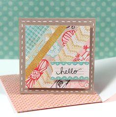 Simon Says Stamp Blog!: July Card Kit - 3x3 Card & Mini Envelope