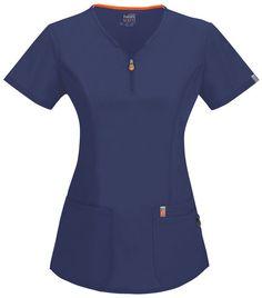 New medical coding shirts scrub tops 55 ideas Spa Uniform, Scrubs Uniform, Cherokee Uniforms, Navy Scrubs, Polo Shirt Outfits, Medical Scrubs, Dental Scrubs, Nurse Scrubs, Happy Women