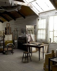Check Out 23 Impressive Artistic Home Studio Designs To Try Now. If you are an artist or just love painting, a studio is a necessary space for you. My Art Studio, Dream Studio, Home Studio, Studio Spaces, Art Spaces, Painting Studio, Crawl Spaces, Studio Studio, Studio Ideas