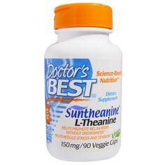 Doctor's Best, Сантианин L-тианин, 150 мг, 90 капсул на растительной основе Л-тианин это аминокислота, которая содержится в зеленом чае. Но при  обычном заваривании чая она, практически, не выделяется, чтобы ее получить, чай надо кипятить часами.  Л-тианин облегчает стресс и нервное напряжение, снимает раздражительность, способствует расслабленному  состоянию без сонливости, способствует улучшению настроения, увеличивает производительность и выносливость на тренировках.