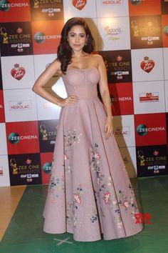 "Red carpet of ""Zee Cine Awards - Nushrat Bharucha Bollywood Actress Hot, Bollywood Celebrities, Bollywood Fashion, Bollywood Oops, Latest Designer Sarees, Designer Dresses, Hollywood Actress Photos, Beauty Full Girl, Indian Wedding Outfits"