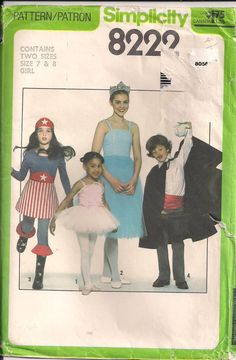 Child's Tutu Sewing Pattern Ballerina Magician by HoneymoonBus, $7.99