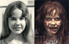 Linda Blair behind the mask
