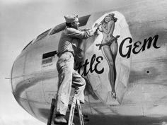 Original World War II nose art....Nice art Work...LOL