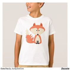 Cute Fox T-Shirt Nov 17 2016 @zazzle #junkydotcom