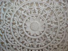 60 x 60 cm Wandpaneel Esmeralda distressed white