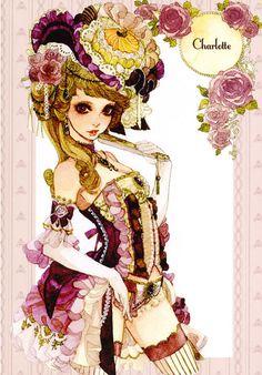 """""""Charlotte"""" by manga artist Sakizou."""